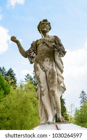 Statue at the Peles Castle, a Neo-Renaissance castle in the Carpathian Mountains, Sinaia, Prahova County, Romania