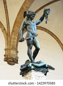 Statue of Perseus and Medusa in Florence, Italy