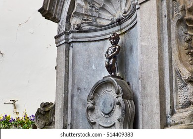 Statue of a pissing boy in Brussels