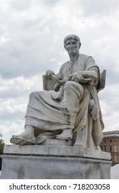 Statue portrait of Sallustius in front of the austrian parliament in Vienna