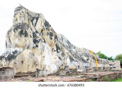 Statue prone, big, old,Thailand