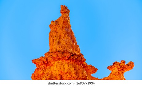 Statue of Queen Victoria created by erosion of a Sandstone Pinnacle in the Queen's Garden part of Bryce Canyon National Park, Utah, United States
