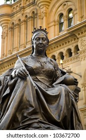 Statue of Queen Victoria in front of the QVB, Sydney, Australia.