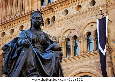 Statue of Queen Victoria, in front of the QVB, Sydney, Australia.
