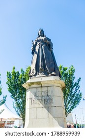 Statue of Queen Victoria on Southport sea front UK