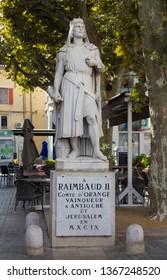 Statue of Raimbaud II, Orange, Vaucluse, France. September 25th 2015