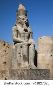 Statue of Rameses II at Luxor Temple, Egypt.