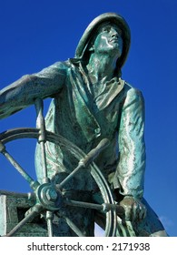 The statue in remembrance to all of those fishermen from Gloucester who have died at sea.