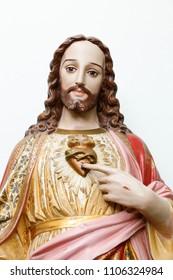 Statue representing the Sacred Heart of Jesus Christ - Catholic symbol