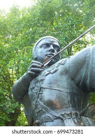 Statue of Robin Hood, Nottingham castle, England