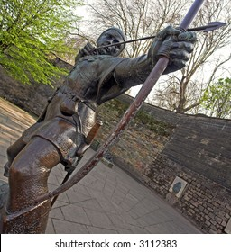Statue Of Robin Hood, Nottingham, England