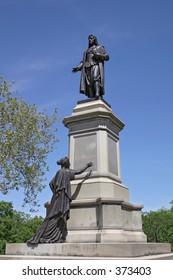 Statue of Roger Williams in  Providence, RI.
