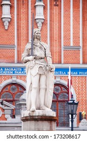 The statue of Roland in Old Riga. Latvia