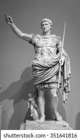 Statue of Roman Emperor Augustus on the via dei Fori Imperiali