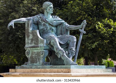 A statue of Roman Emperor Constantine the Great in York, England.