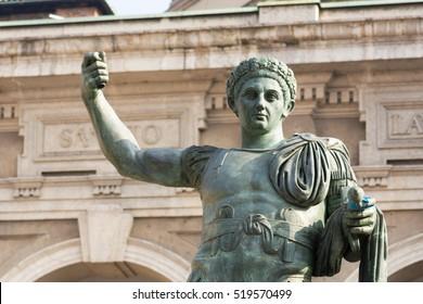 statue Roman emperor Constantine, also known as Constantine the Great and Constantine