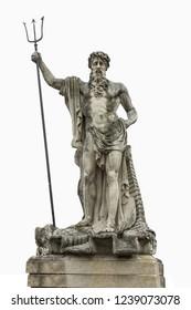 Statue of the Roman god of water of Neptune. In Greek mythology, Poseidon
