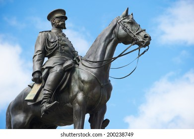 Statue of Russian czar Alexander II, liberator of Bulgaria, Sofia, Bulgaria