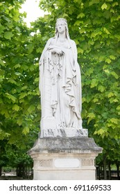 Statue of Saint Clotilde at Luxembourg Gardens in Paris, France