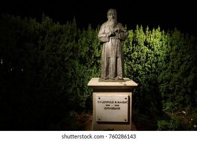 statue of Saint Leopold Mandic in Medjugorje in Bosnia