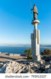 Statue of Saint Rosalia in Monte Pellegrino, Palermo, Sicily, Italy