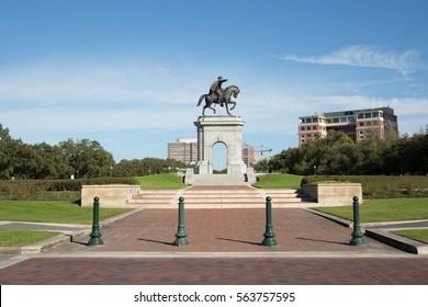 Statue of Sam Houston in Hermann Park, Houston, Texas