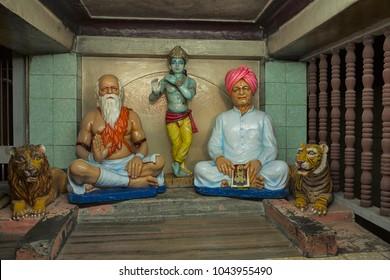 Statue of Sant Kaikadi Maharaj and Kondiram Kaka. Kaikadi Maharaj Math