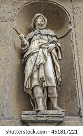 Statue of Sant'Alessio in Florence, Italy