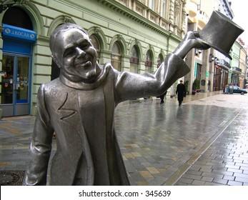 statue of schone nazi in bratislava