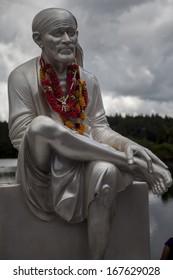 Statue of Shirdi Sai Baba at Grand Bassin in Mauritius
