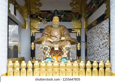 Statue of Shogun Ieyasu at Toshogu Shrine at Nikko, Japan