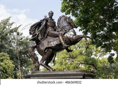 statue of simon bolivar in caracas, venezuela