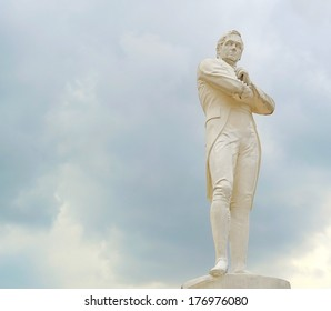 Statue of Sir Tomas Stamford Raffles - best known for his founding of the city of Singapore. He is often described as the