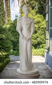 Statue of Sisi, Elisabeth of Bavaria, in Corfu, Greece