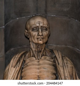 Statue of St. Bartholomew in Milano's Cathedral, Duomo, Italy, 2014