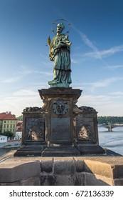 Statue of St. John Nepomuk at Charles bridge