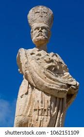 Statue of St. Nicholas in Mtarfa Malta