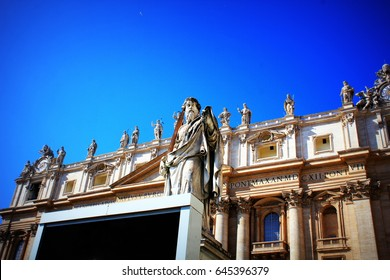 Statue of St. Peter in front of St. Peter's Basilica