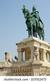 A Statue of Stephanus Rex in the Buda's Castle District / Budapest