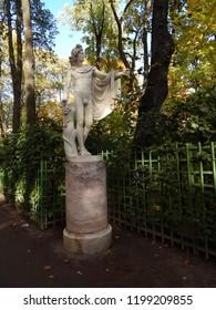 Statue in the Summer Garden in St. Petersburg in autumn, landscape