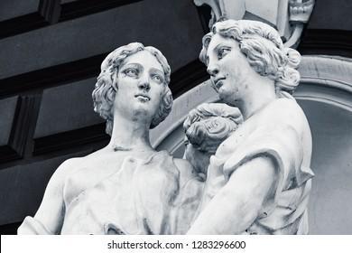 The statue. Three Graces