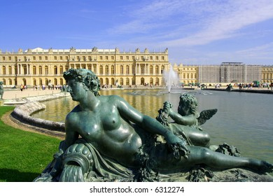 Statue at Versailles castle