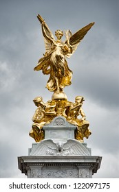 Statue of Victory on the Queen Victoria Memorial outside Buckingham Palace
