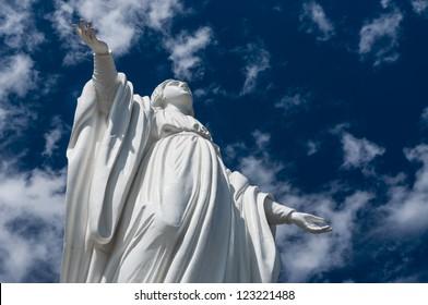 Statue of Virgin Mary, Cerro San Cristobal, Santiago de Chile
