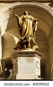 Statue of Virgin Mary in Mdina Valletta  Malta