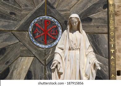 Statue of Virgin Mary Nathareth, Israel