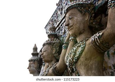 Statue at wat arun, Bangkok, Thailand