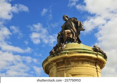 statue of William Shakespeare, Stratford-upon-Avon, Warwickshire, England, United Kingdom