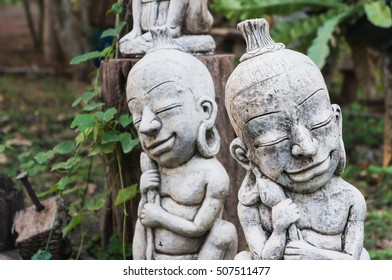 Statues of ancient tribes
