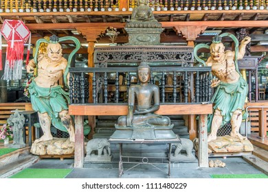 Statues in Buddhist temple in Colombo, Sri Lanka